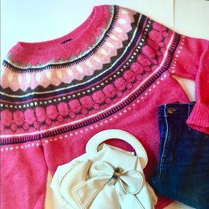 J. Crew pink Sweater